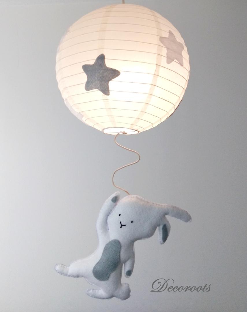 Lustre suspension ben le lapin enfant b b luminaire enfant b b decoroots - Abat jour chambre bebe garcon ...