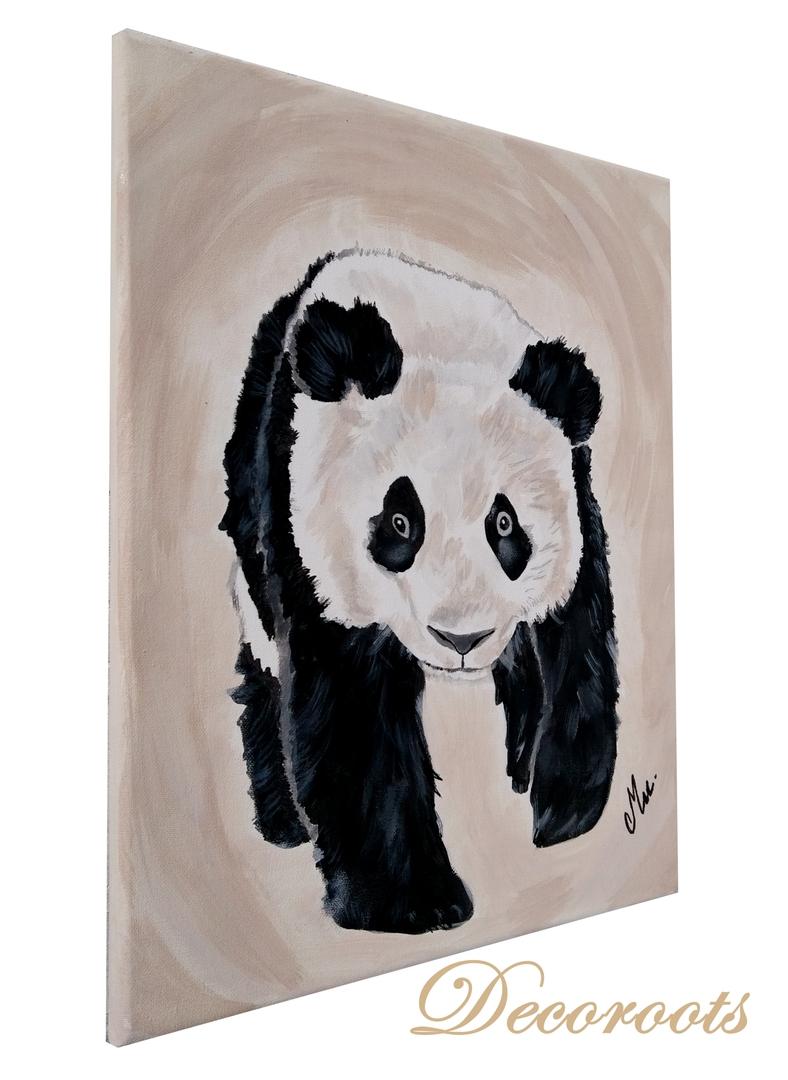 Chambre Bébé Panda : Tableau enfant bébé panda