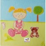 tableau enfant bébé nature petite lucie au jardin logo