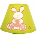 lampe enfant bébé lapin vert et beige  zoom
