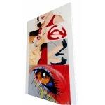 tableau design contemporain call me grand format rouge profil