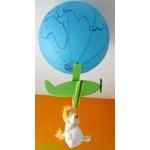 lampe avion enfant bébé lion thème jungle vert et bleu garçon orange