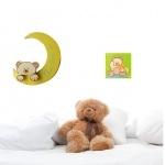 plaque de porte bébé tableau bébé ours beige et vert