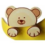 plaque de porte en bois bébé ours zoom