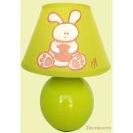 lampe enfant bébé garçon lapin vert et beige