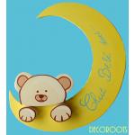plaque de porte bébé ours et la lune