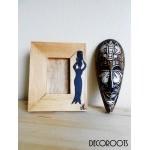 cadre photo ethnique en bois afrique