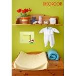 cadre photo enfant bébé thème forêt nature champignons vert deau et rouge beige bois