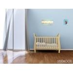 cadre photo en bois thème bord de mer décoration enfant bébé voilier bateau bleu rayure décoration2