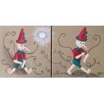 tableau enfant bébé pinocchio pantin bois jouet dantan dautrefois fée