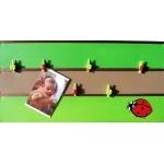 pêle mêle photo enfant bébé nature coccinelles trèfle vert anis vert forêt marron chocolat