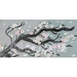 tableau cerisier en fleurs nature zen gris blanc noir 27