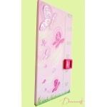 Toise enfant bébé fille envol de papillons rose violet parme vert anis fuschia paillette décoration 1