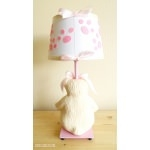 lampe de chevet enfant bébé oursonne fille rose et beige collection gourmandise dos