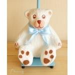 lampe de chevet enfant bébé garçon ours polaire blanc bleu marron chocolat décoration ourson zoom