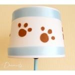 lampe de chevet enfant bébé garçon ours polaire blanc bleu marron chocolat décoration ourson zoom  2