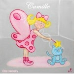 tableau enfant bébé poupée lucie abracadabra rose gris perle