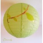 abat-jour enfant bébé vert marron chocolat bleu nature chouette hibou décoration lustre suspension papillon arbre 3