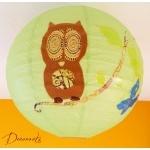 abat-jour enfant bébé vert marron chocolat bleu nature chouette hibou décoration lustre suspension papillon arbre 2
