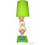 lampe de chevet enfant bébé lapin vert bleu marron chocolat garçon décoration nature luminaire