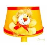 lampe de chevet enfant bébé lion thème jungle savane brousse safari orange beige garçon fille mixte décoration zoom