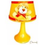 lampe de chevet enfant bébé lion thème jungle savane brousse safari orange beige garçon fille mixte décoration