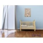 tableau enfant bébé lapin en peluche beige taupe marron chocolat décoration mixte fille garçon sf normal bleu