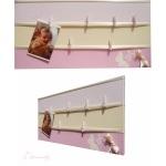 pêle mêle photo enfant bébé beige et rose papillon fille chambre décoration 3