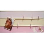 pêle mêle photo enfant bébé beige et rose papillon fille chambre décoration