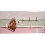 pêle mêle photo enfant bébé gris et rose papillon fille chambre décoration