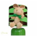 lampe de chevet enfant bébé lapin vert forêt marron chocolat mixte décoration chambre zoom