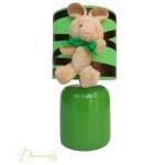 lampe de chevet enfant bébé lapin vert forêt marron chocolat mixte décoration chambre