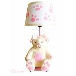 lampe de chevet enfant bébé oursonne fille rose et beige collection gourmandise