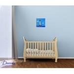 tableau enfant bébé le phare thème mer marine plage rouge bleu garçon décoration chambre