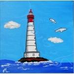 tableau enfant bébé le phare thème mer marine plage rouge bleu garçon décoration af
