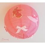 lampe suspension abat jour oiseau printemps nature rose pale rond