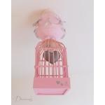 lustre suspension abat-jour lampe luminaire coeur gris rose chambre décoration fille