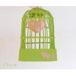 lustre suspension abat-jour lampe luminaire coeur vert deau et  rose chambre décoration fille zoom