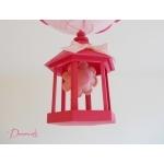 lustre suspension lampe luminaire abat jour fille cage fleur nature rose fuchsia pastel originale zoom