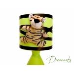 lampe de chevet enfant bébé tigre jungle vert anis marron chocolat 2