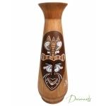 vase décoratif bois ethnique masque africain decoroots