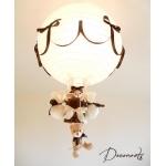 lampe montgolfière enfant marron chocolat blanc beige 3