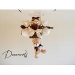 lampe montgolfière enfant marron chocolat blanc beige 1