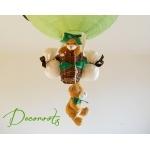lampe montgolfière ours vert