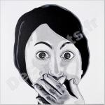 tableau deco design femme noir et blanc 1