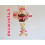 lampe montgolfière enfant bébé lapin rose fuchsia blanc 2