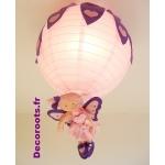 abat jour fille fée rose violet 1