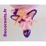 lustre suspension fille fée rose violet 1