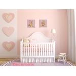tableau enfant bébé oursonne rose