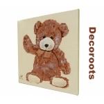 tableau enfant bébé ours beige marron chocolat 2
